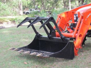 66 ROCK BUCKET GRAPPLE TRACTOR ATTACHMENT 48 TONG