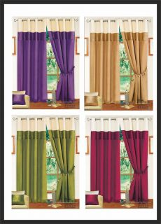 Next Ring Top Eyelet Fully Lined Faux Silk Curtains Bedding Set  Lime