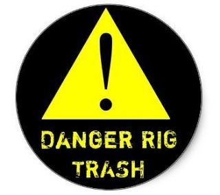 Newly listed 20 OILFIELD STICKERS   DANGER RIG TRASH, OIL & GAS decals