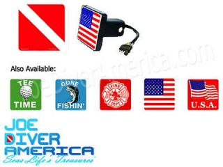 Illuminated Trailer Hitch Cover Dive Flag