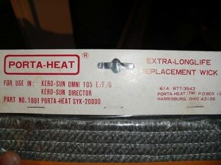 Kero Sun Kerosene Heater Wick Omni 105 E, F, G and Director