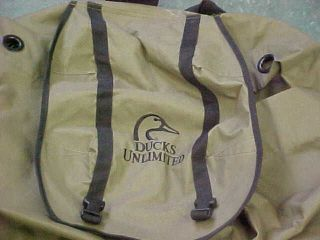 Heavy duty canvas Ducks Unlimited HUGE duck decoy carrying holder bag