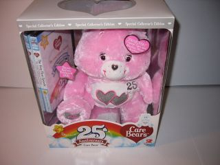 NEW Collectors 25th Anniversary Pink Care Bear DVD Swarovoski Crystal