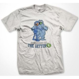 Sponsored by the Letter E. Cookie Monster Mens T shirt