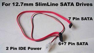 SATA Cable 13pin (7+6pin) for Slim SATA DVD Drive 2p power cable