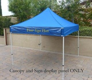 EZ Up 10x10 Gazebo Tent Canopy Replacement Canopy Top. w/Detach Sign