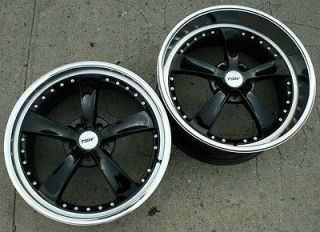 19 BLACK RIMS WHEELS FORD MUSTANG STAGGERED / 19 X 8.0/9.5 5H +40