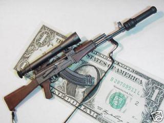 Miniature 1/6 scale Russian AK 47 assault rifle sub machine Gun rifle