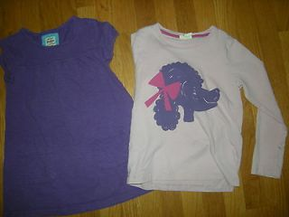 Mini Boden Girl Pink Purple Top Shirt PLAY Lot Size 7 8 y years Poodle