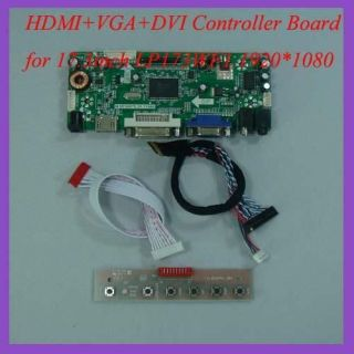 HDMI+VGA+DVI+A udio LCD controller board for 17.3 LP173WF1 1920*1080