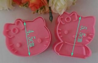 2PCS hello kitty fondant Biscuit cake Tool Cookie cutter Mold