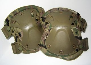 CAMO,ATACS OR TAN CORDURA X FIT TACTICAL KNEE & ELBOW PADS,HARD SHELL