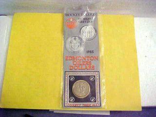1983 WAYNE GRETZKY EDMONTON OILERS HOCKEY DOLLAR COIN