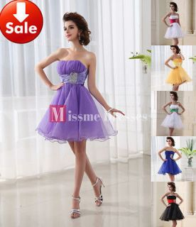 Shoulder Pink Beads Chiffon Short Homecoming Party Prom dresses 2013
