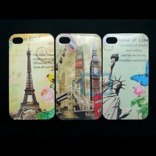 Statue of Liberty/Eiffel Tower/Big Ben/Hard Back Case Cover for iPhone