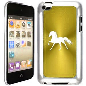 Gold Apple iPod Touch 4th Generation 4g Hard Case Cover B154 Horse