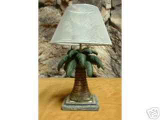 PALM TREE T LITE LAMPS w/WIRE MESH SHADE Set of 2