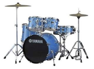Yamaha GigMaker Drum Set w/Hardware Blue Ice 20 Bass