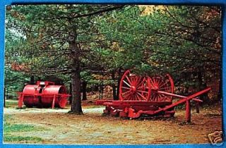 Logging Equipment Hartwick Pines State Park Grayling Michigan Postcard