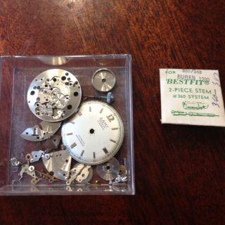 Vintage Mens Camy Watch For Parts 17 Jewels Geneva Incabloc