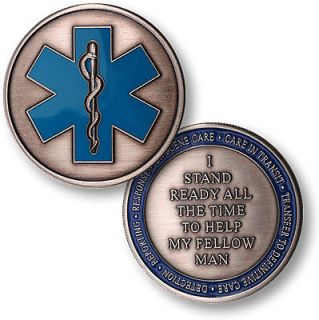 Fire and Rescue Medic challenge coin Fire rescue fireman