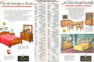 Drexel Furniture AMERICAN CASUAL Washington Cherry BEDROOM Dining 1953