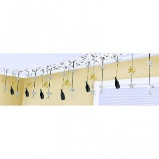 Black silver gold Champagne ceiling decoration Garland Hollywood