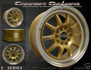 Newly listed 15 EVOKE™ C10 WHEELS RIMS ALLOY 10H/ 5 LUG GOLD JDM