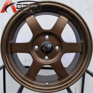 16X7 ROTA GRID 4X100 +40 FULL ROYAL SPORT BRONZE WHEEL FITS INTEGRA