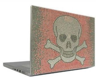 Skull 7 & 8.9 Crystal Rhinestone Bling Laptop Sticker Sheet Cover