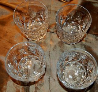 SET OF 4 ARCOROC FRANCE LANCER DOUBLE OLD FASHION ON ROCK GLASS