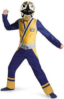 Power Rangers Samurai Gold Ranger Classic Child Costume SizeM 7 8