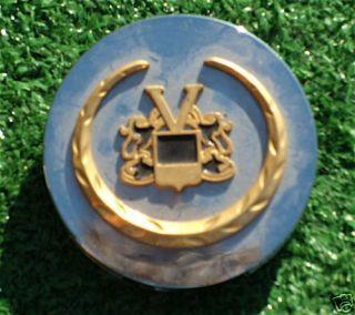 VOGUE 2 5/8 inch Chrome GOLD Wheel CENTER CAP Cadillac