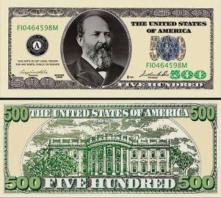 500 PLAY POKER MONEY DOLLAR BILL (100/$13.99)