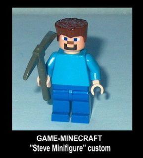 Newly listed GAME Lego Minecraft Steve with axe as a MINIFIGURE Custom