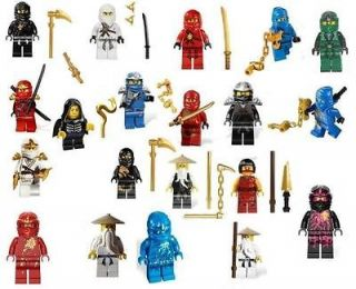 Lego Ninjago U pick 24 to choose from, Jay Kai Cole Zane Wu DX ZX