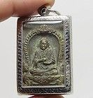 THAI AMULET somdej LP NAK special Mold Prokpoe Rare2485 nikle case