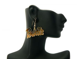 Inspired Mirror Polished Barbie Hook Post Earring Gold Extra Shine