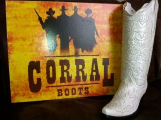 Corral Pearl White Wedding Western Cowboy Boot A1929
