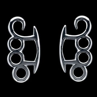 4G   Pair of Stainless Steel Tapered Claw Brass Knuckle Hangers