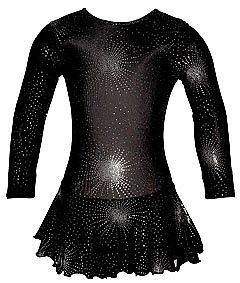 Lycra Skirted Ice Skating Majorette Dance Dress Leotard