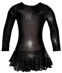Lycra Skirted Ice Skating Majorette Dance Dress Leotard