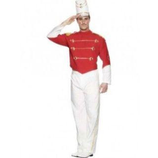 , Nutcracker. Jacket, pants, hat. Medium, red & white w/ gold trim