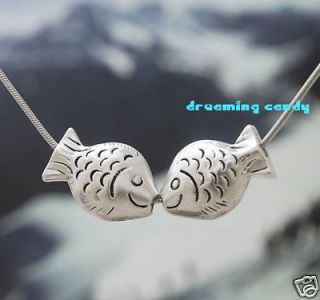 Korean Drama Fashion Kissing Fish Floating necklace
