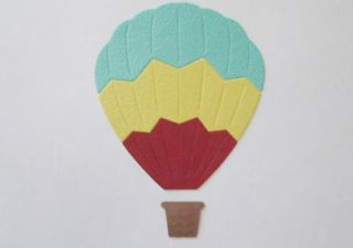 hot air balloon in Scrapbooking & Paper Crafts