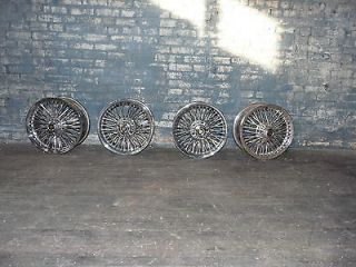 Set of 4 Dayton 70 Spoke Chrome Wheels Jaguar Rims
