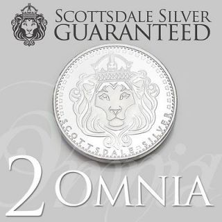 Newly listed (2) x 1 oz Scottsdale Silver OMNIA Silver Round   One