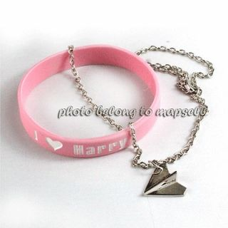 Hot One Direction Harry Styles Paper Plane Airplane Necklace with