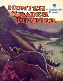 Coon Hunting Vintage Magazine Poster Art Lights Traps Walker Coonhound
