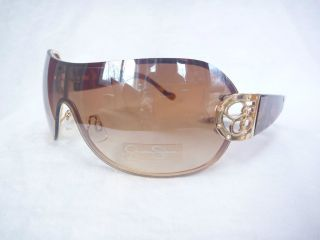 JESSICA SIMPSON J277 BROWN BLACK SHIELD CRYSTAL SHADES WOMANS